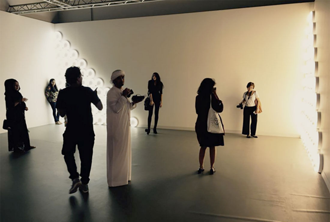 Installation view of David Zwirner's booth at Abu Dhabi Art, 2015. Photo via @abudhabiart on Instagram.