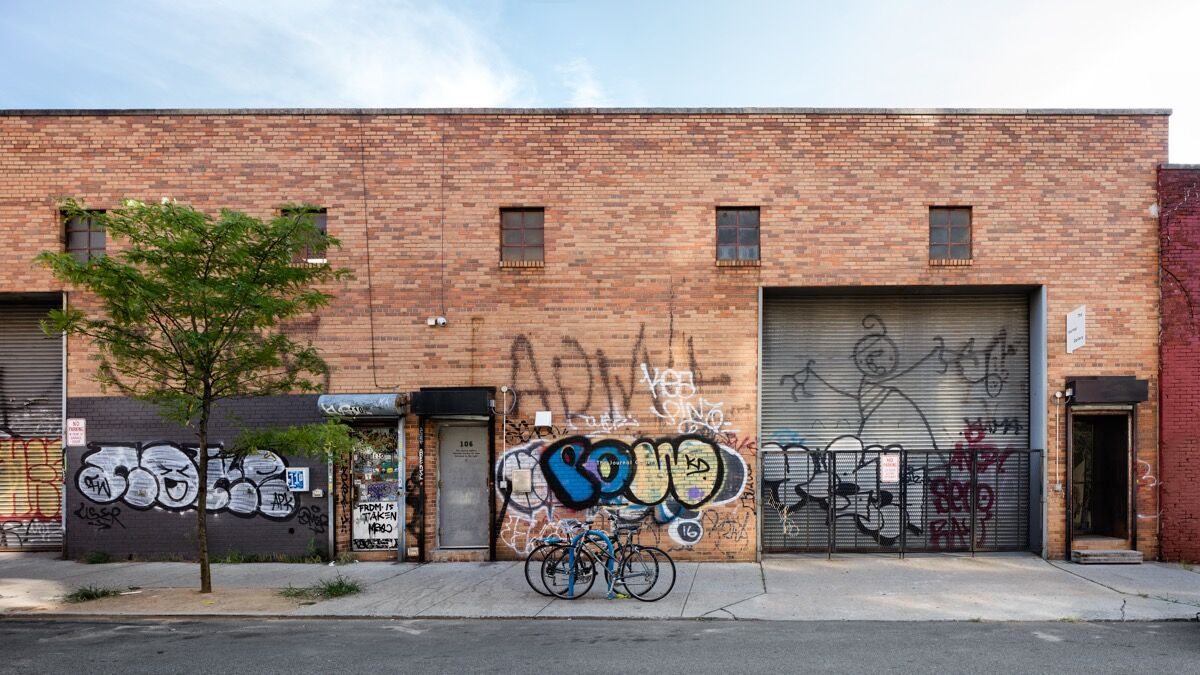 Exterior view of The Journal Gallery located on N. 1st Street in Williamsburg, Brooklyn. Photo by Raimund Koch. Courtesy of The Journal Gallery.