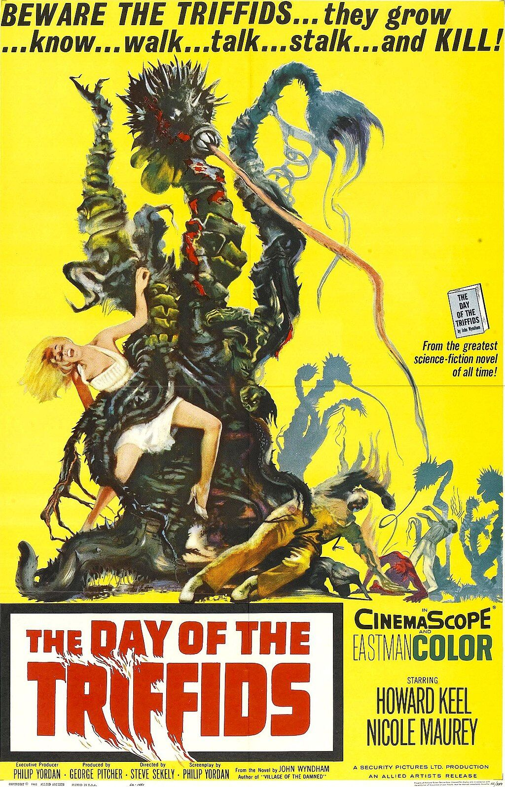 The Day of the Triffids theatrical poster, 1962. Image via Wikimedia Commons.