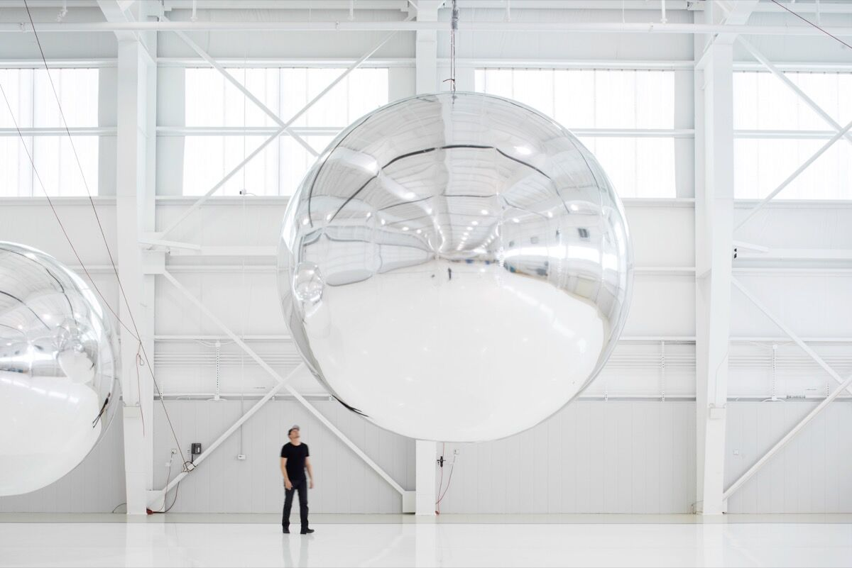 Trevor Paglen, Orbital Reflector (early prototype, 2017–19. Courtesy of the artist and the Nevada Museum of Art.