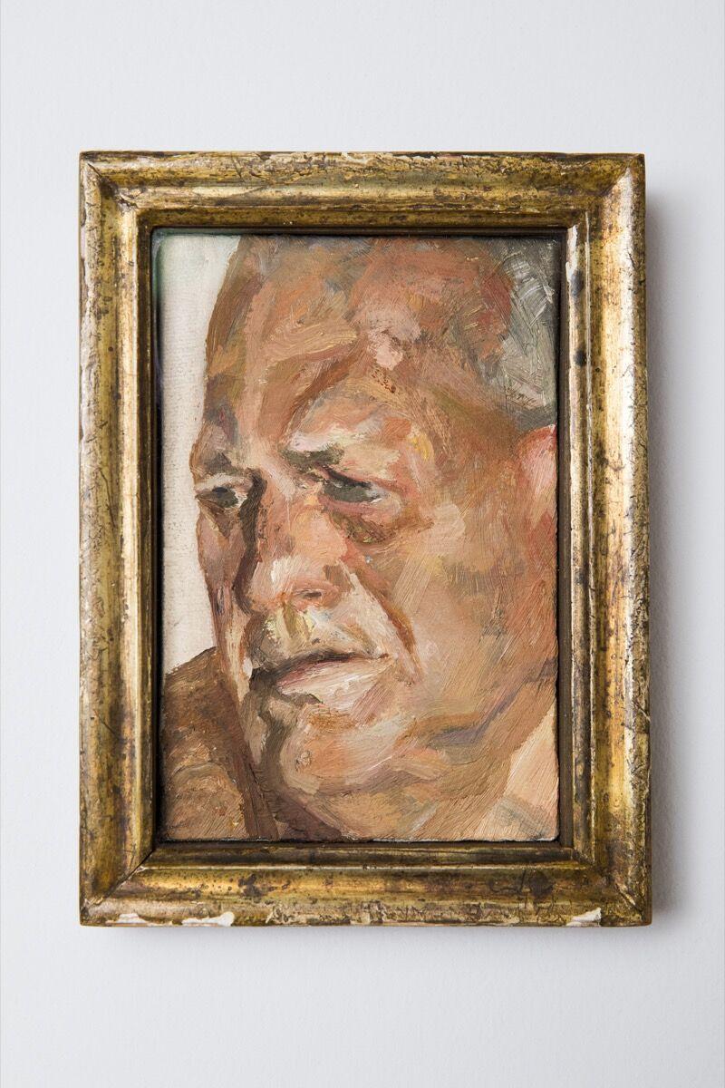 Lucien Freud, Portrait of John Richardson, n.d. Courtesy of American Friends of the National Portrait Gallery, London.