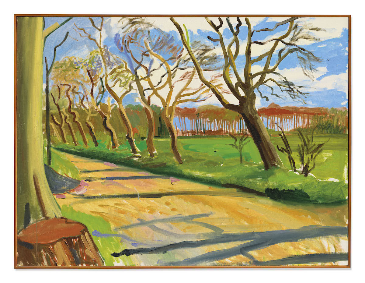 David Hockney,  Walnut Trees, 2006. Sold for £3.2 million ($4.1 million). © Christie's Images Limited 2020.