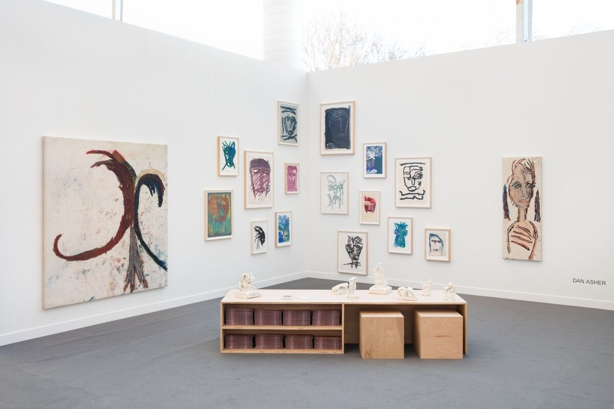 Installation view of Martos Gallery's booth at Frieze New York, 2018. Courtesy of Martos Gallery.