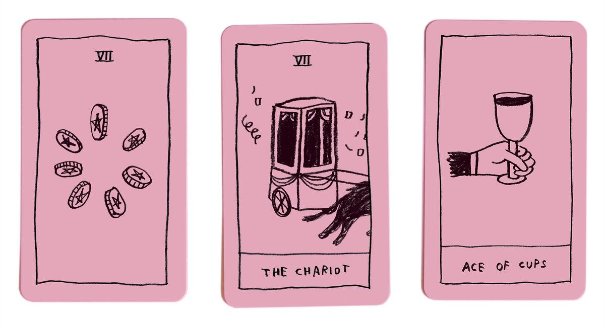 The OK Tarot deck, 2018. Courtesy of Adam J. Kurtz.