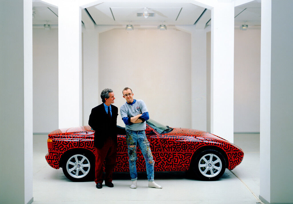 Hans Mayer & Keith Haring (Galerie Hans Mayer Kai Strasse), January 1990, courtesy of Galerie Hans Mayer