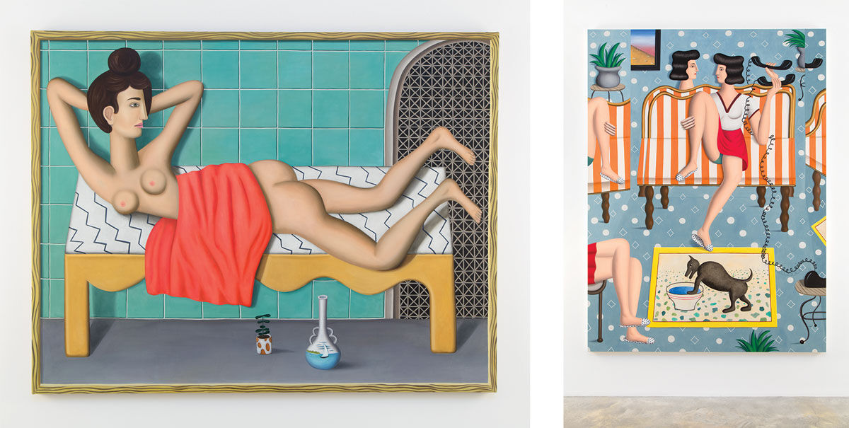 Left: Jonathan Gardner, Reclining Nude, 2016. Right: Jonathan Gardner, Connection, 2016. Photos: Jean Vong. Images courtesy of the artist and Casey Kaplan, New York.