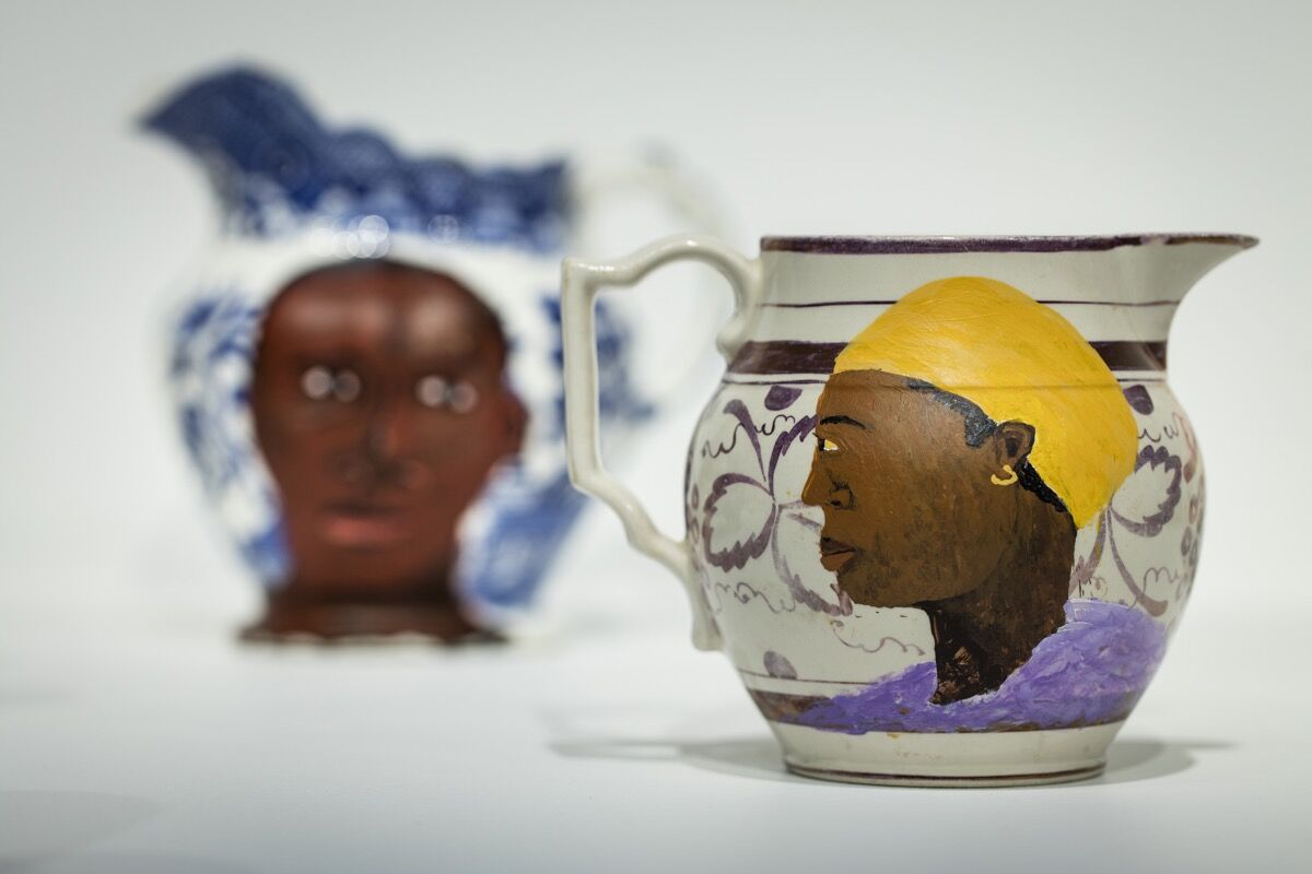 Lubaina Himid, a piece from Swallow Hard: The Lancaster Dinner Service, 2007. Courtesy of Hollybush Gardens.