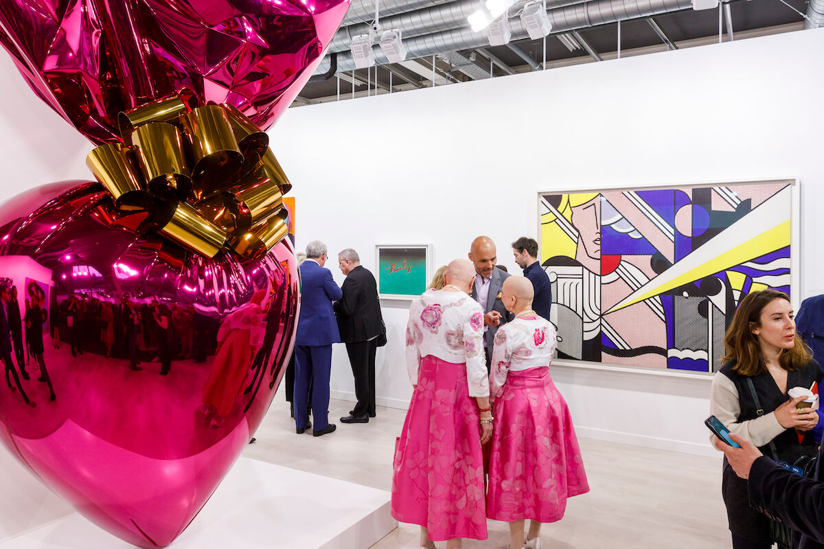 Installation view of Gagosian's booth at Art Basel, 2019. Courtesy of Art Basel.
