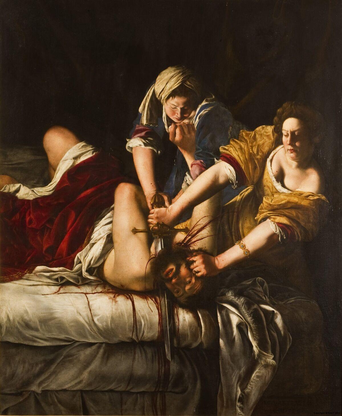 Artemisia Gentileschi, Judith Beheading Holofernes, c. 1620. Courtesy of The Uffizi.