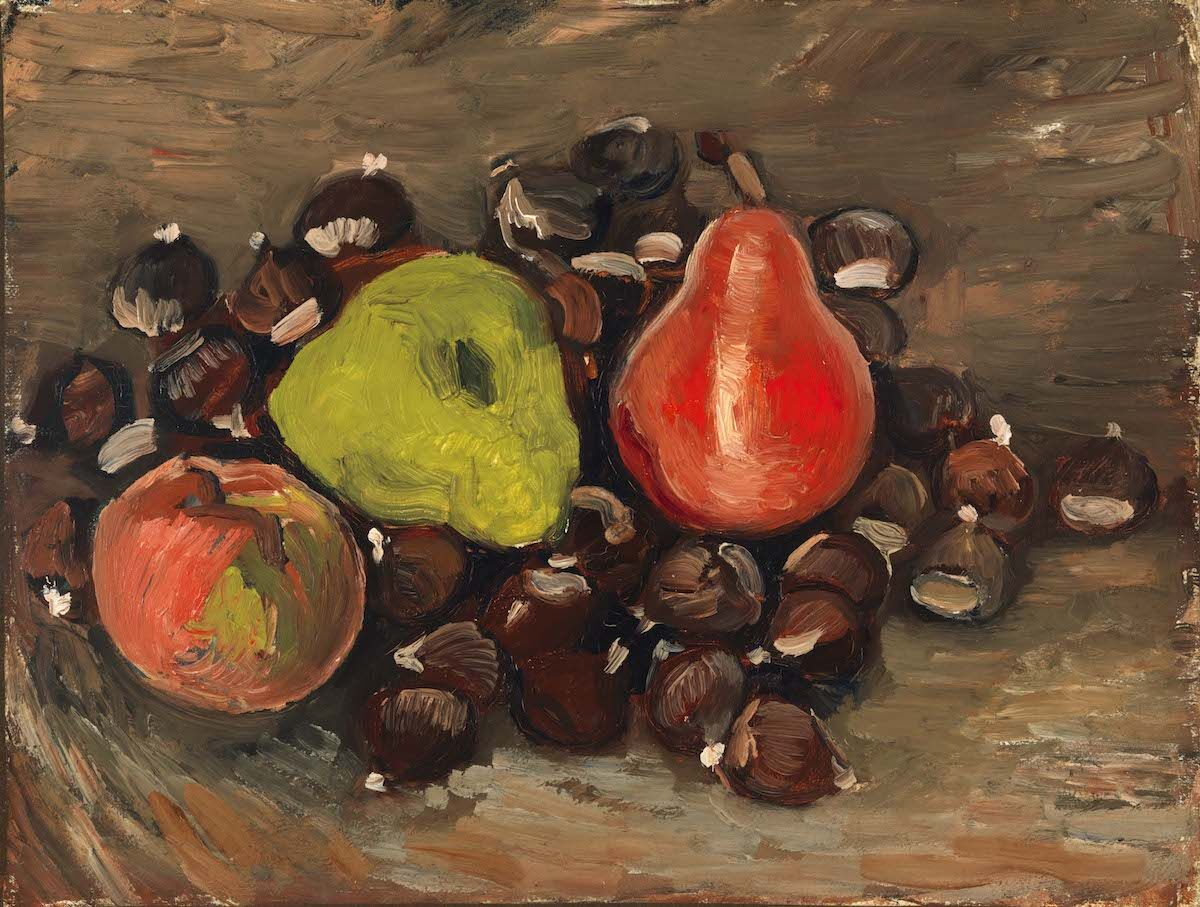 Vincent van Gogh, Still Life with Fruit and Chestnuts, 1886, oil on canvas. Courtesy of the Fine Arts Museums of San Francisco.