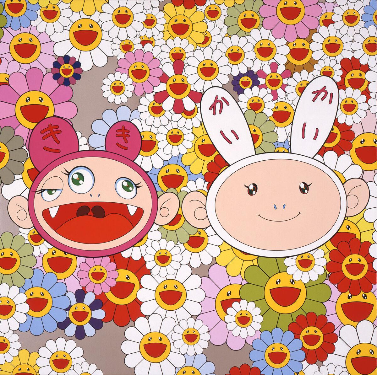 Takashi Murakami, Kaikai Kiki News, 2002. ©︎ 2002 Takashi Murakami/Kaikai Kiki Co., Ltd. All Rights Reserved. Courtesy of Gagosian.