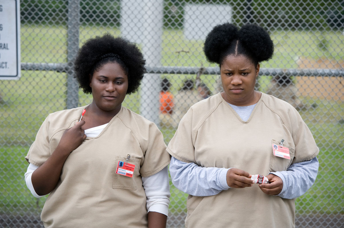 Danielle Brooks (left) and Adrienne C. Moore (right) in Orange Is the New Black, Season 3, 2015. © Netflix. Courtesy of the Jewish Museum.