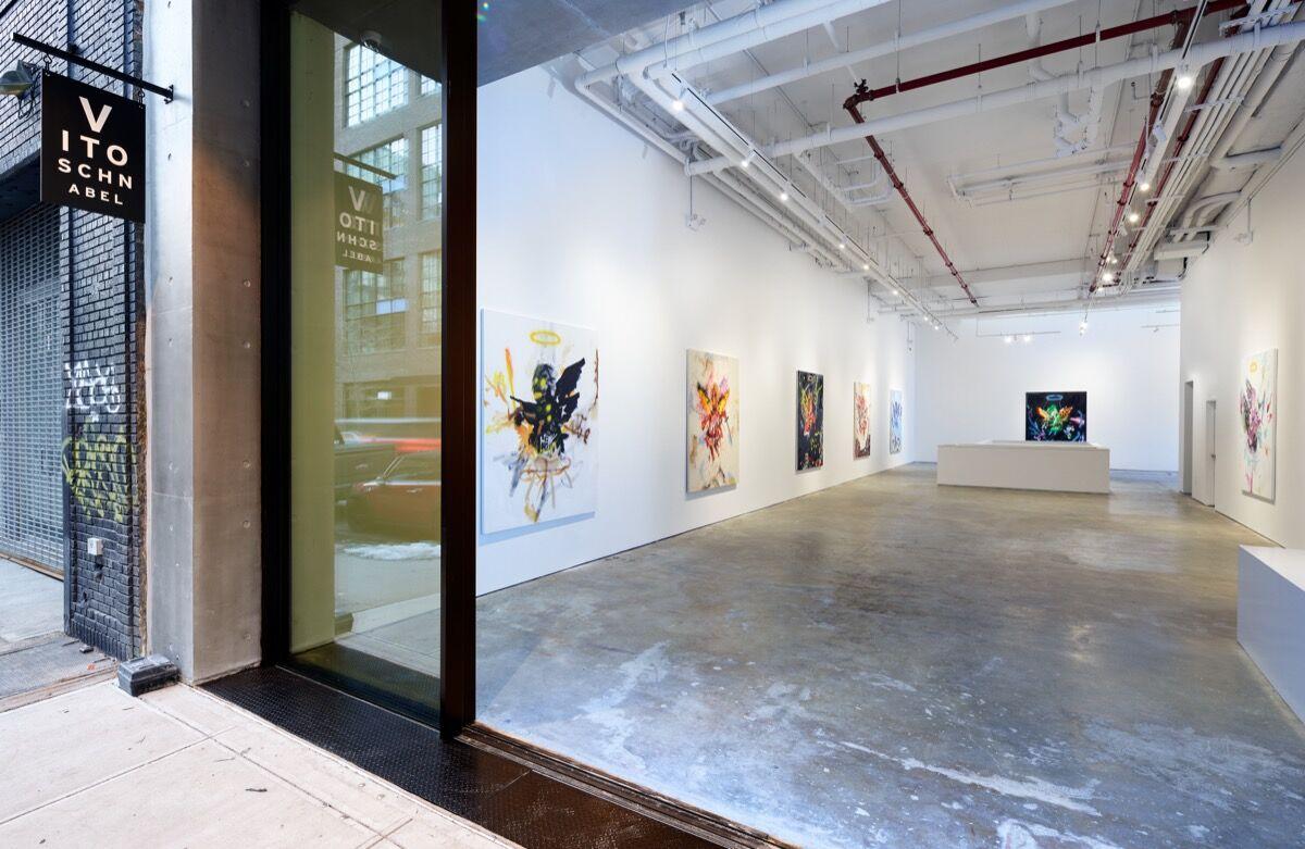 "Robert Nava, installation view of ""Robert Nava: Angels"" at Vito Schnabel Gallery, New York, 2021. © Robert Nava. Photo by Argenis Apolinario. Courtesy of Robert Nava and Vito Schnabel Gallery."