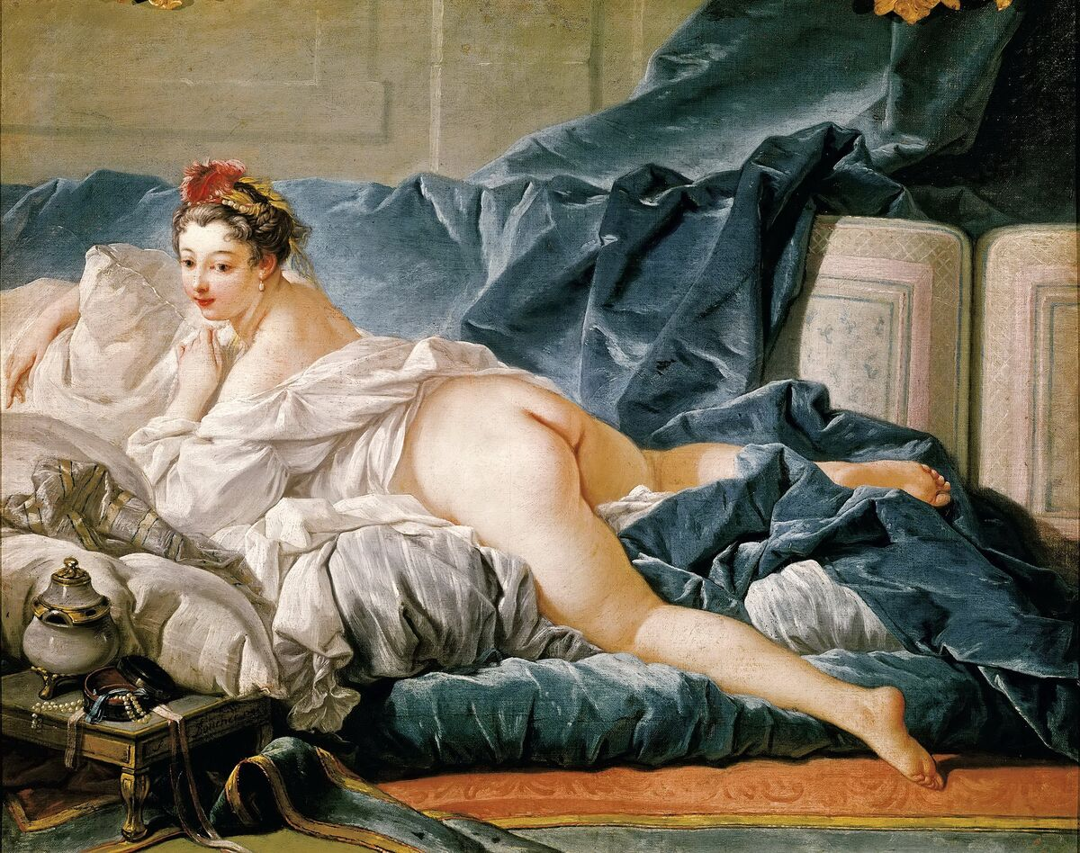 François Boucher, L'Odalisque Brune, 1743. Image via Wikimedia Commons.