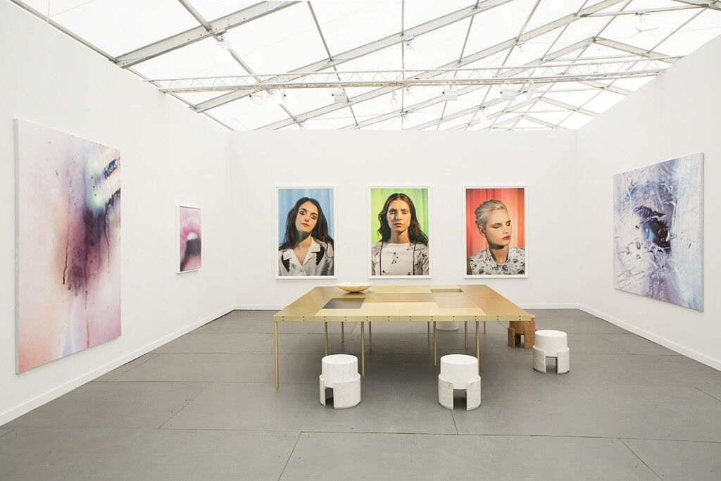Installation view of Salon 94's booth at Frieze New York 2015, courtesy of Salon 94