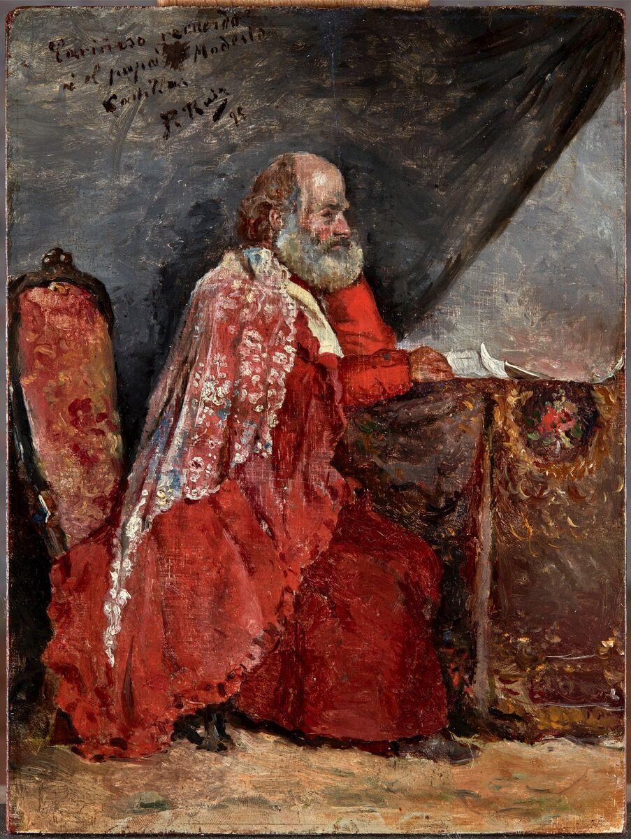 Pablo Picasso, Portrait of a Bearded Man, 1895. Courtesy of Jaime Eguiguren – Arte y Antigüedades.