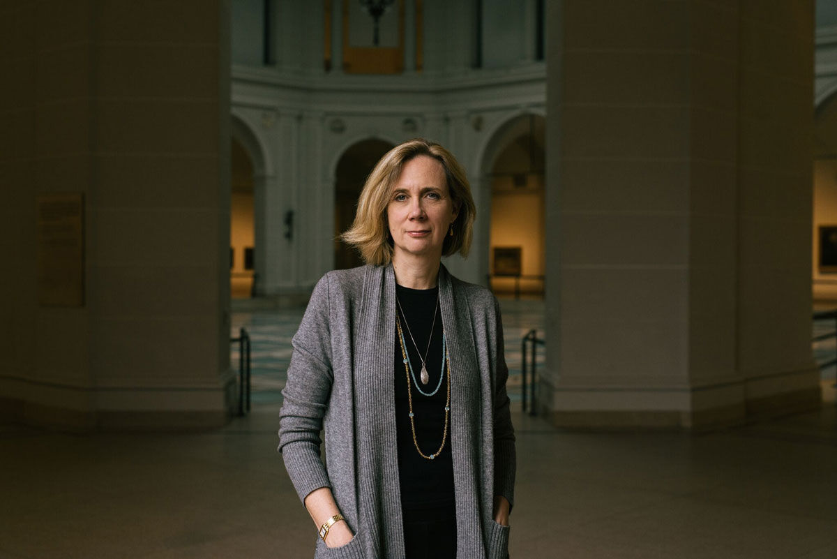 Portrait of Catherine Morris at the Brooklyn Museum by Daniel Dorsa for Artsy.