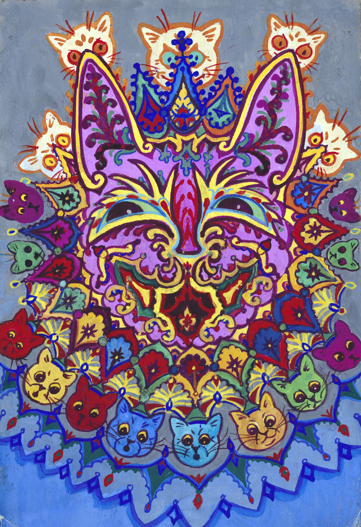 Louis Wain, Cat with Cat Necklace. Courtesy of Chris Beetles Ltd.