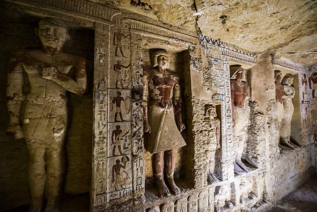 The tomb of high priest Wahtye at the Saqqara necropolis in Egypt. Photo by Khaled Desouki/AFP/Getty Images.