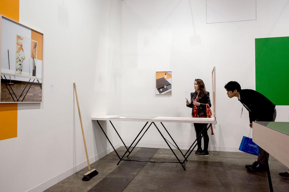 Installation view of Kadel Willborn's booth at Art Basel in Hong Kong, 2017. Courtesy of Art Basel.