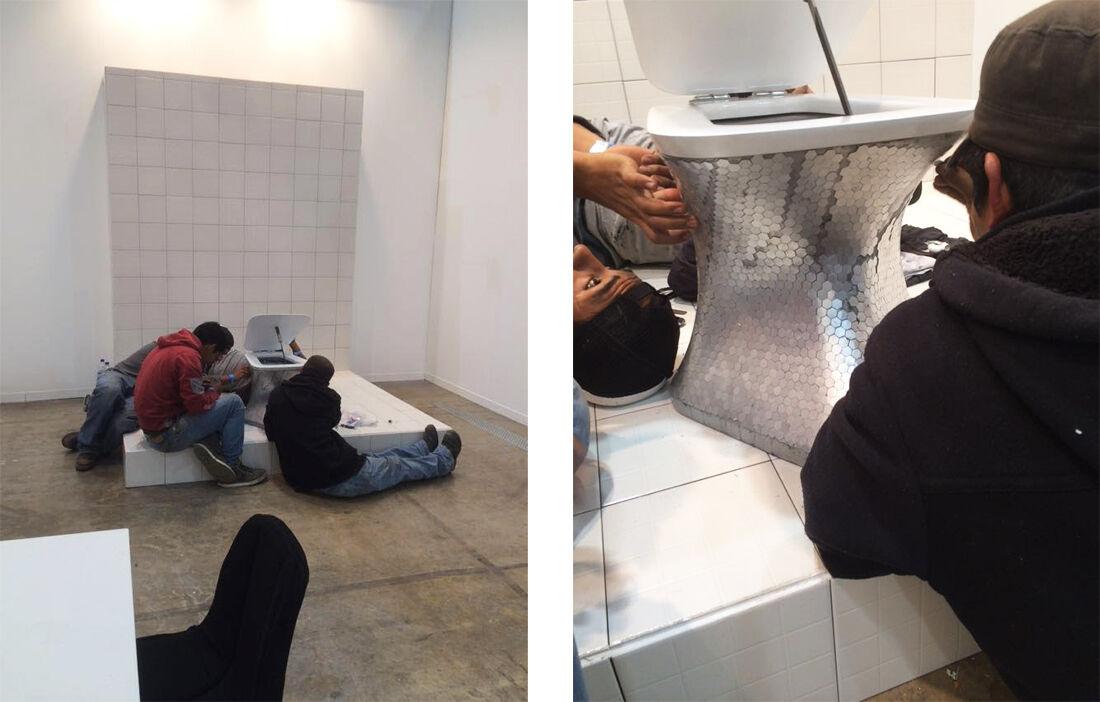Installation views ofParque Galeria's booth at ZsONA MACO 2016. CourtesyParque Galeria.