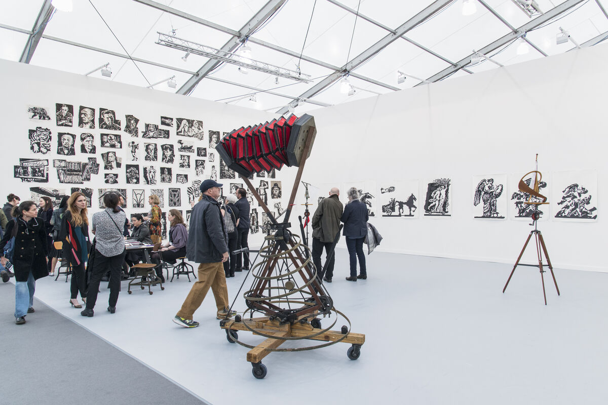 Installation view of Marian Goodman Gallery's booth at Frieze New York, 2016. Photo by Adam Reich for Artsy.