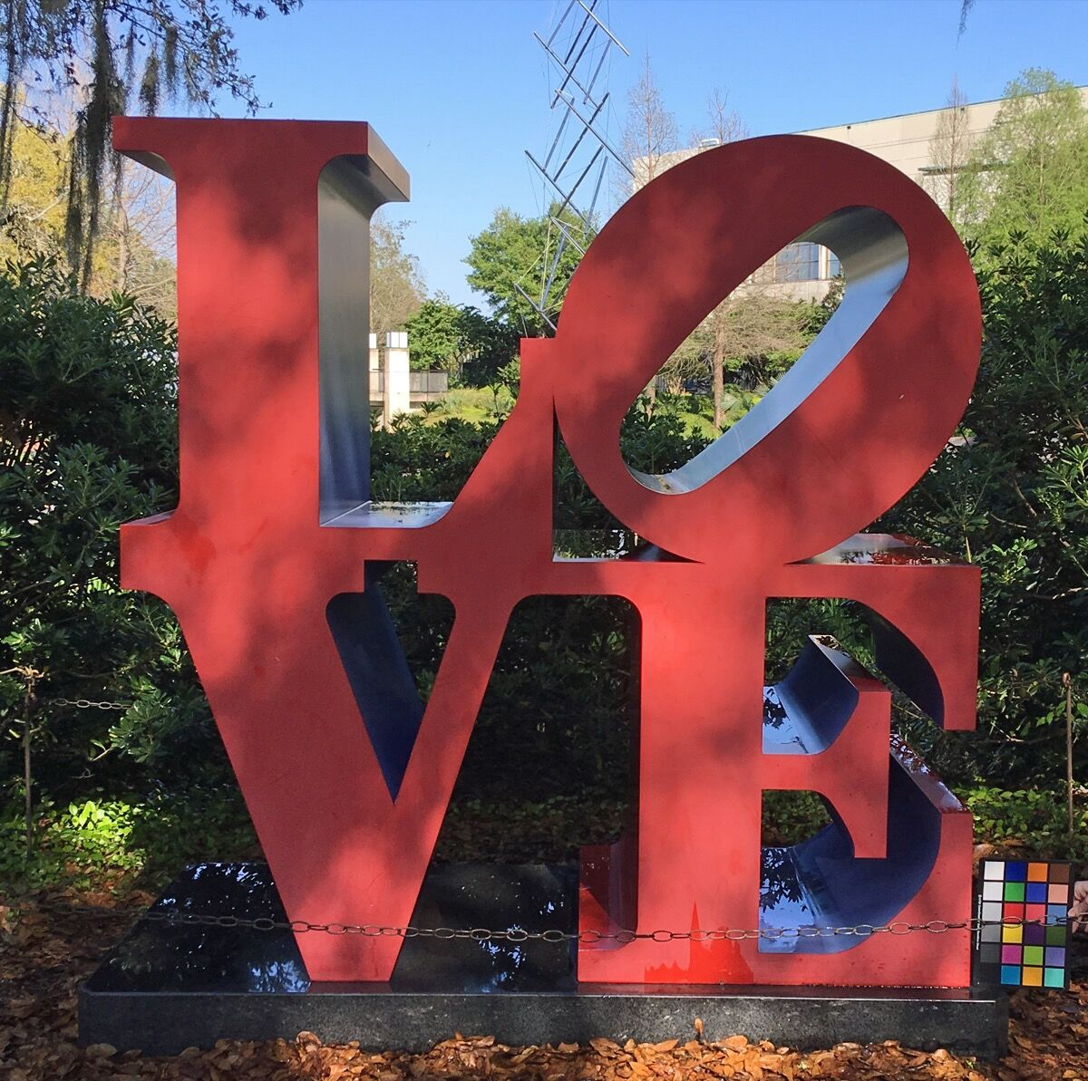 Robert Indiana, LOVE (red outside violet inside), 1966-97.  Courtesy of the New Orleans Museum of Art.