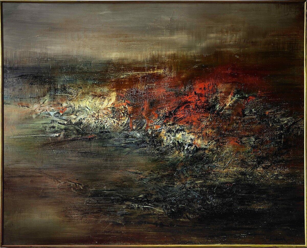 Zao Wou-Ki, 20.03.60, 1960. Sold for HK$114,827,000 (US$14.8 million). Courtesy Sotheby's.