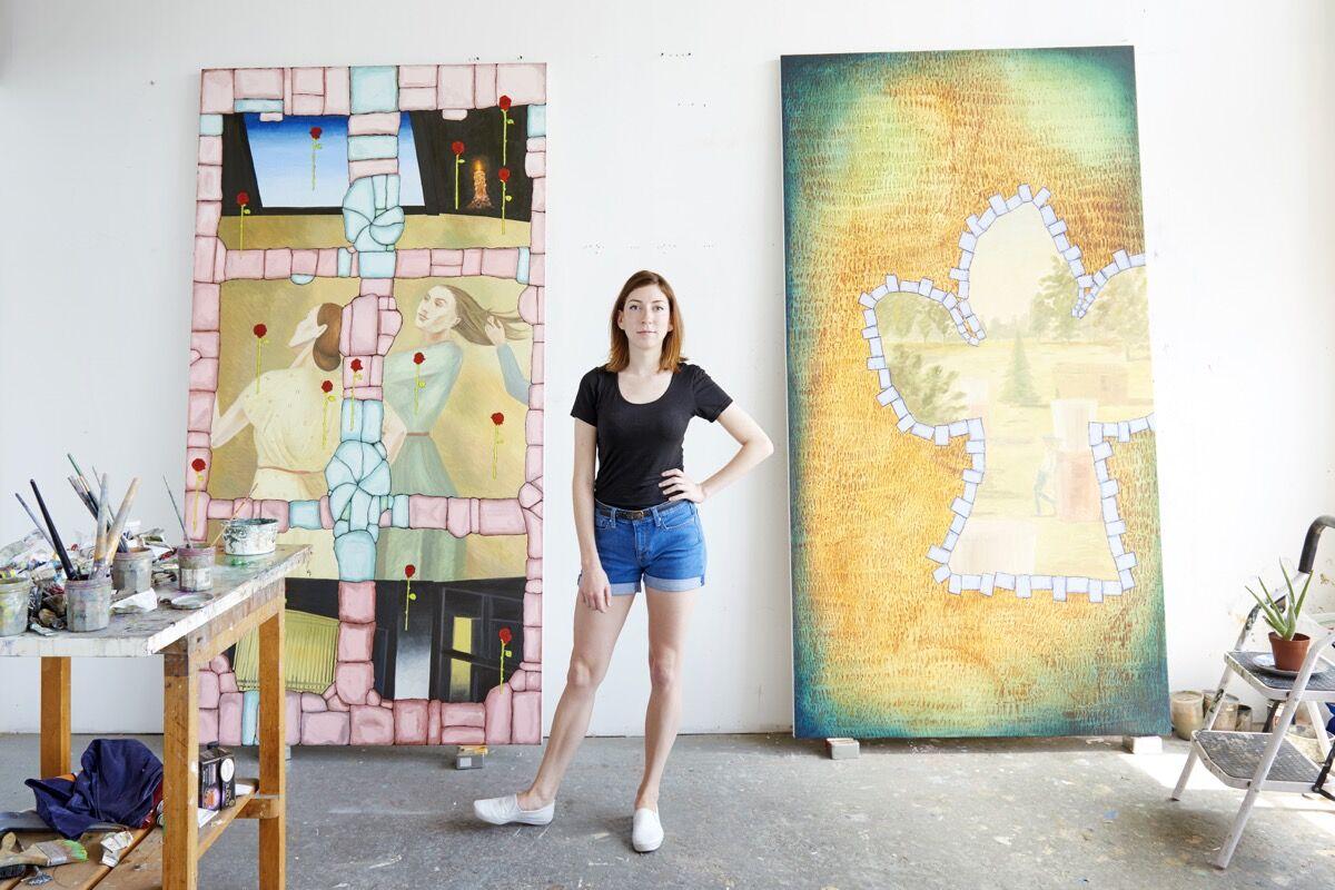 Portrait of Anna Glantz in her Long Island City, NY studio by Kyle Knodellfor Artsy.