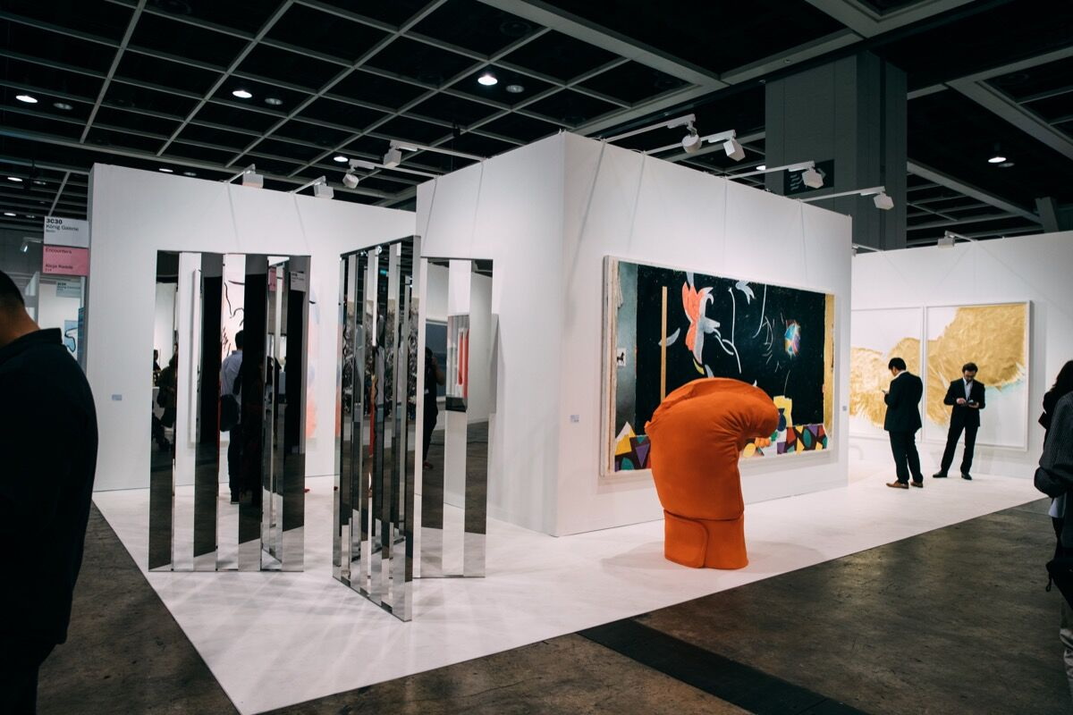 Installation view of König Galerie's booth at Art Basel in Hong Kong, 2017. Photo courtesy of BMW.