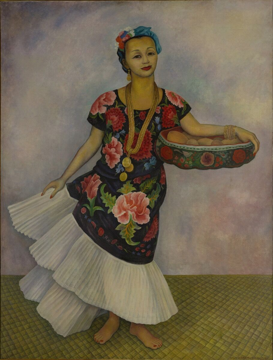 "Diego Rivera, Portrait of Dolores Olmedo (""The Tehuana"") , 1955. Courtesy of the Museo Dolores Olmedo, Mexico City."