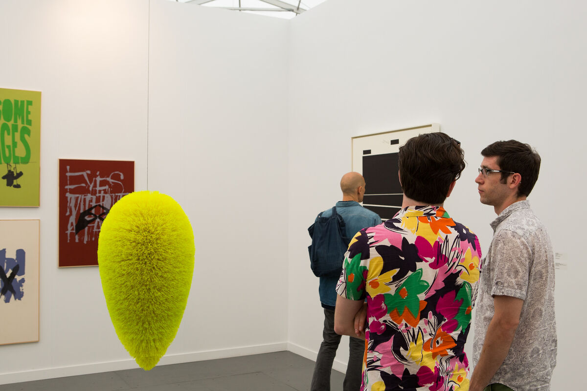 Photograph of Sprüth Magers's booth at Frieze New York 2015 by Marco Scozzero, courtesy of Marco Scozzero/Frieze.