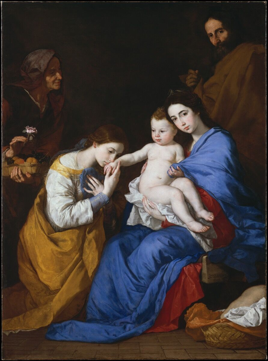 Jusepe de Ribera, The Holy Family with Saints Anne and Catherine of Alexandria, 1648. Courtesy of the Metropolitan Museum of Art.