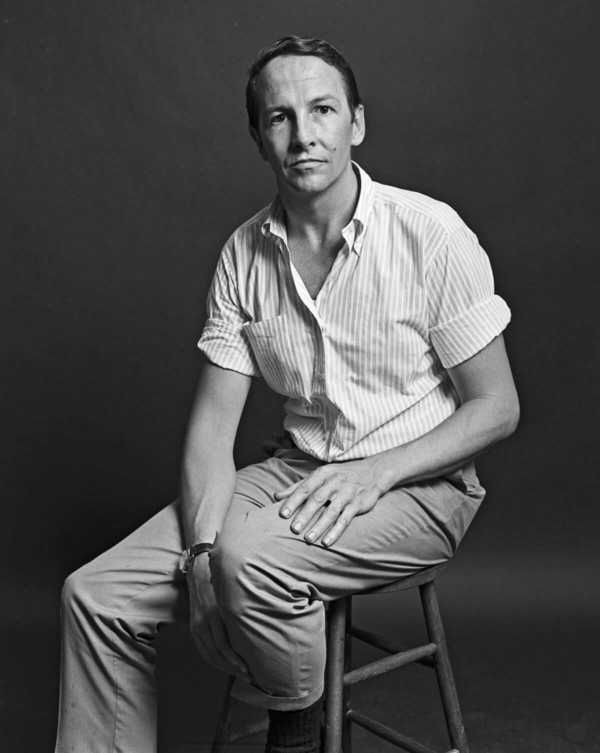 Portrait of Robert Rauschenberg by Jack Mitchell, 1966, via Getty Images.