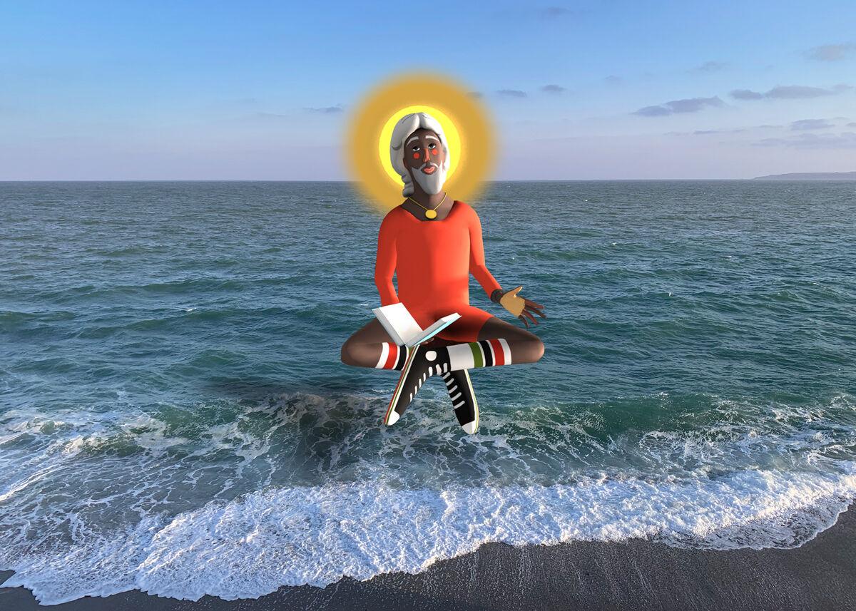Nina Chanel Abney, Imaginary Friend, 2020, augmented reality. Courtesy Nina Chanel Abney and Acute Art.