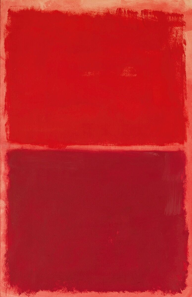Mark Rothko, Untitled (Red on Red), 1969. Courtesy of Sotheby's.