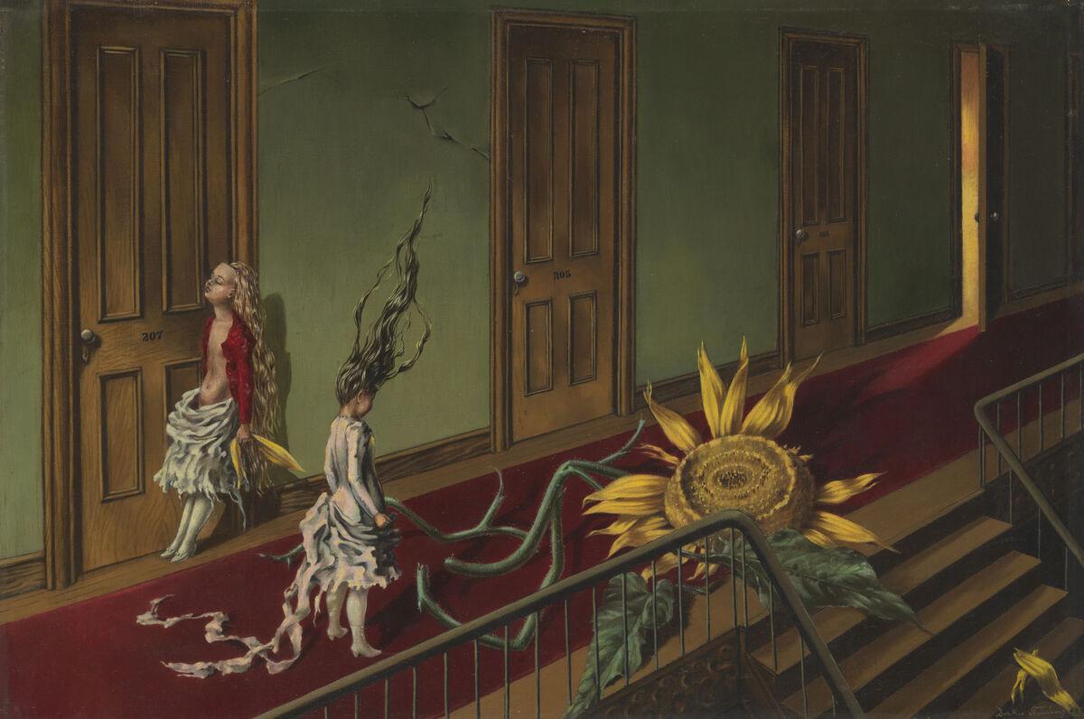 Dorothea Tanning, Eine Kleine Nachtmusik, 1943. © DACS, 2018. Courtesy of Tate Modern.