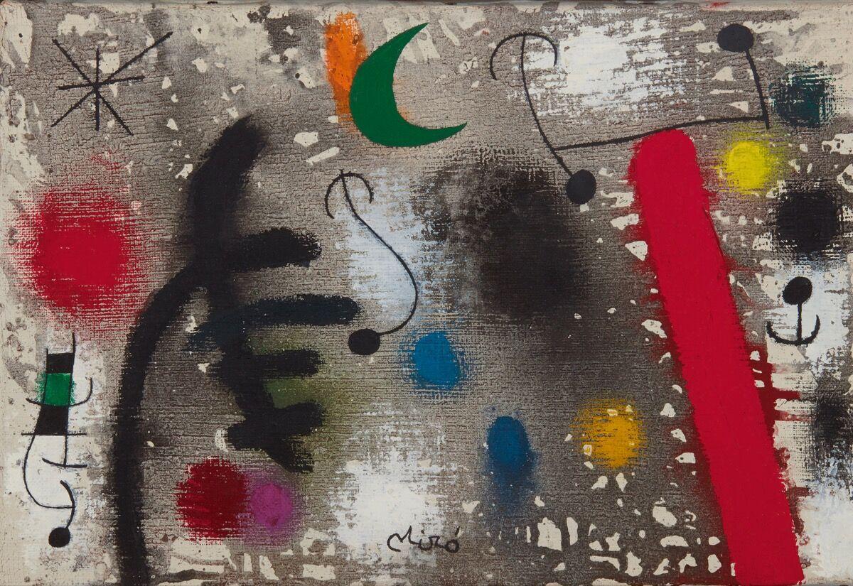 Joan Miró, Couple d'amoureux dans la nuit, 1966. Courtesy of Sotheby's.