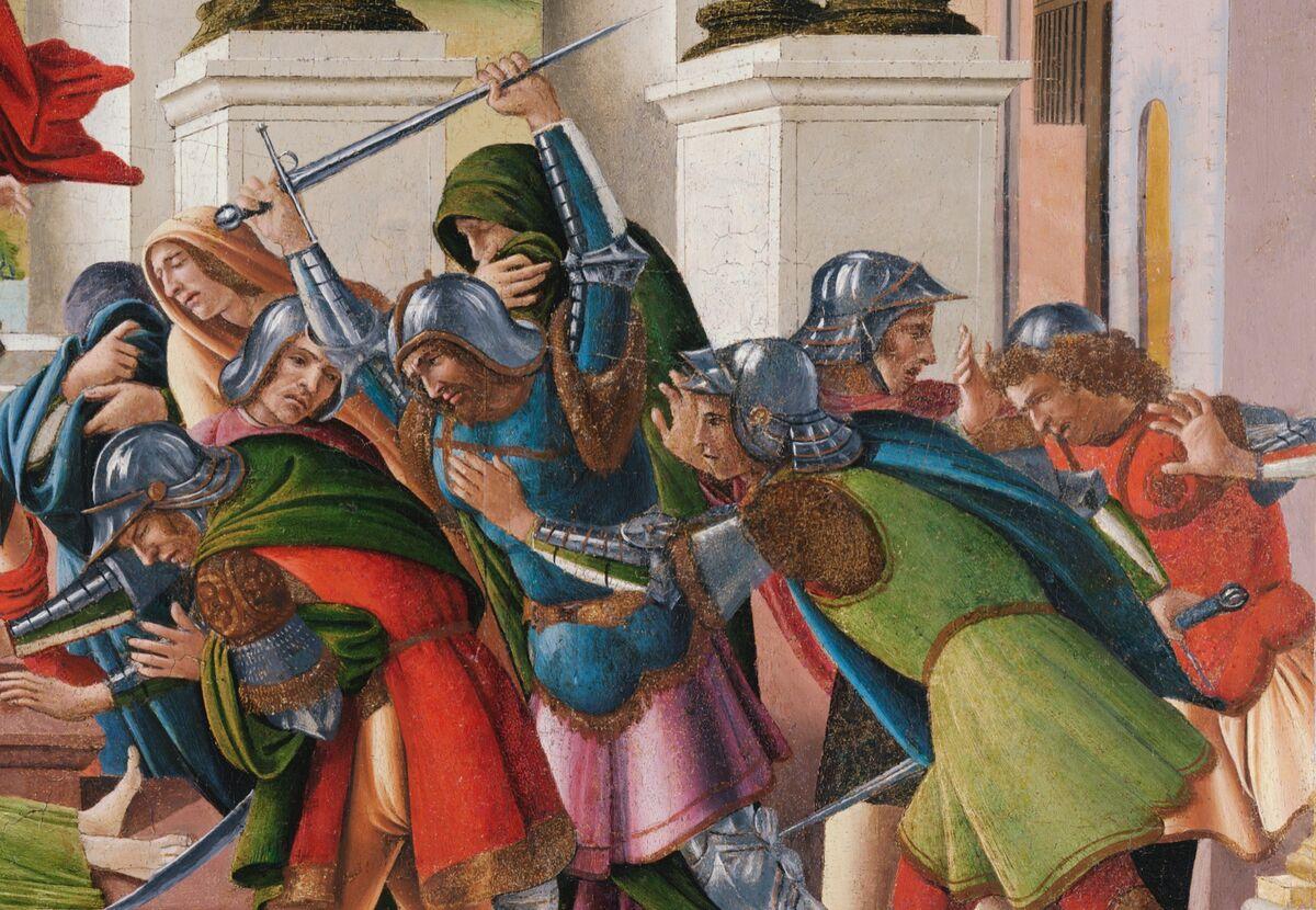 Sandro Botticelli, La tragedia de Lucrecia (detalle), 1499–1500.  Cortesía del Museo Isabella Stewart Gardner, Boston.