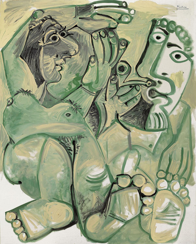 Pablo Picasso, Homme et femme nus, 1968. Est. £10 million–15 million. Courtesy Christie's Images Ltd. 2019.