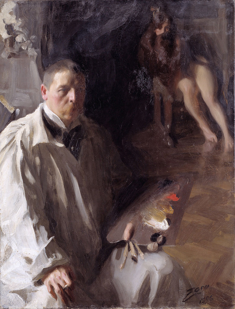 Anders Zorn, Self-portrait with Model, 1896. Courtesy of Nationalmuseum.