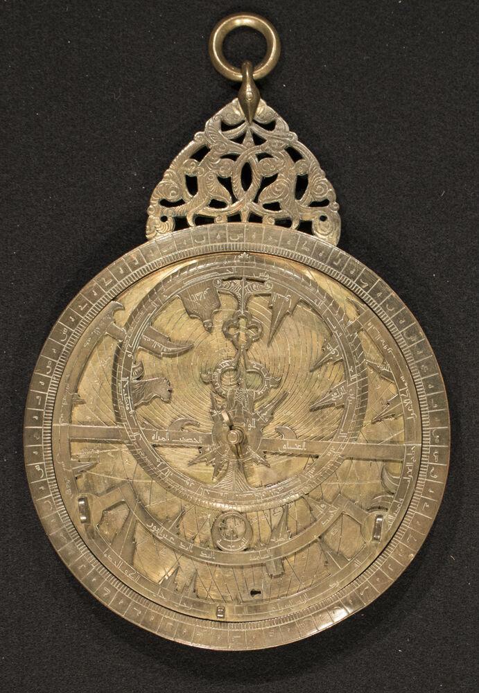 Muhammad b. Abi Bakr, Astrolabe, 13th century. Courtesy of New York Historical Society Museum & Library.