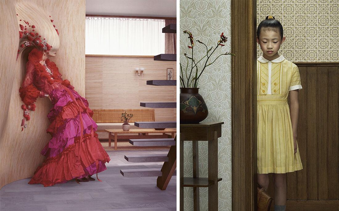 Erwin Olaf,Lacroix, 2006 and Keyhole 12, 2013. Courtesy GalleryMagda Danysz.