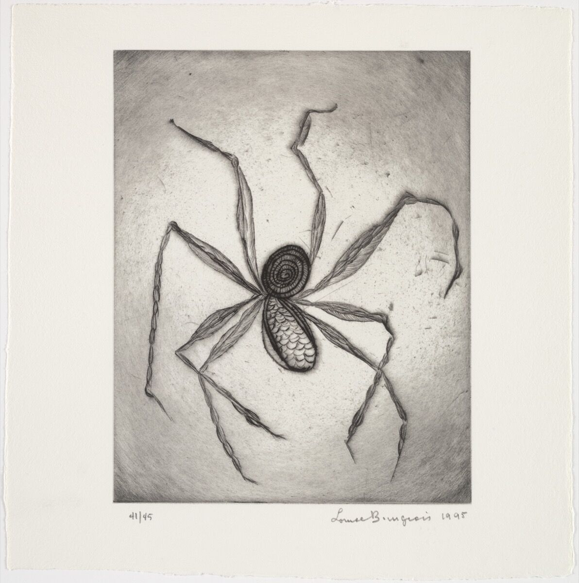 Louise Bourgeois,Plate 8 of 9 from the illustrated bookOde à Ma Mère, 1995. The Museum of Modern Art, New York. © 2017 The Easton Foundation/Licensed by VAGA, NY. Courtesy of the Museum of Modern Art.