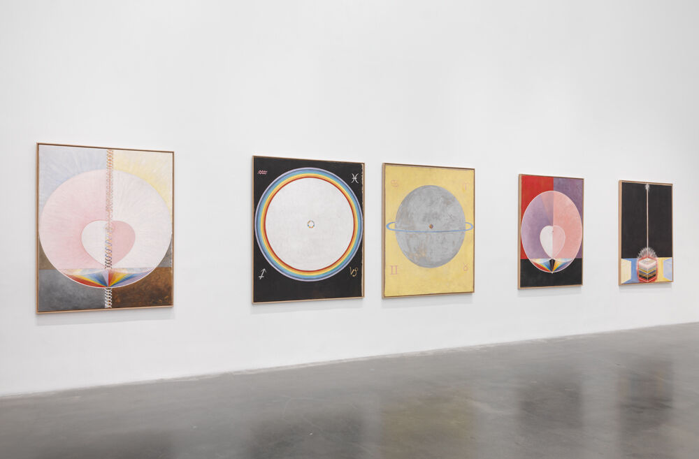 "Installation view of work by Hilma af Klint in ""The Keeper"" at New Museum, 2016. Photo by Maris Hutchinson / EPW Studio. Courtesy New Museum, New York."