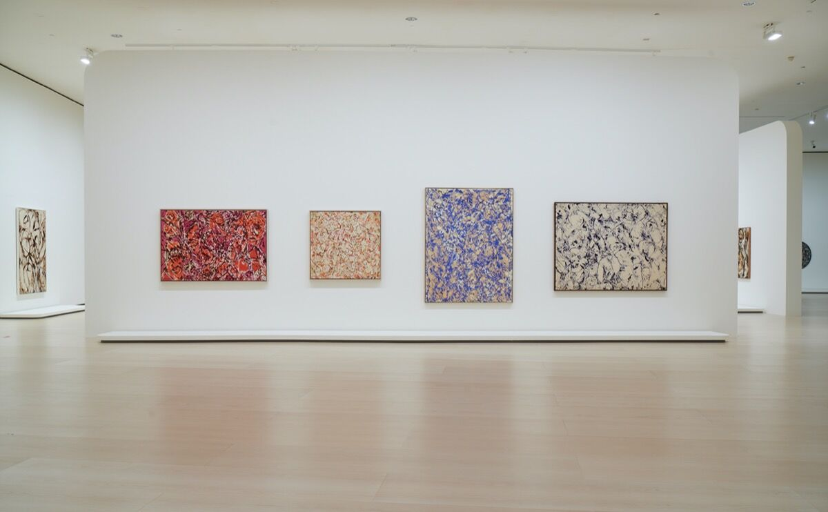 """Installation view of """"Lee Kranser: Living Color"""" at the Guggenheim Museum Bilbao, 2020. © FMGB, Guggenheim Museum Bilbao, 2020. Photo by Erika Ede. Courtesy of the Guggenheim Museum Bilbao."""