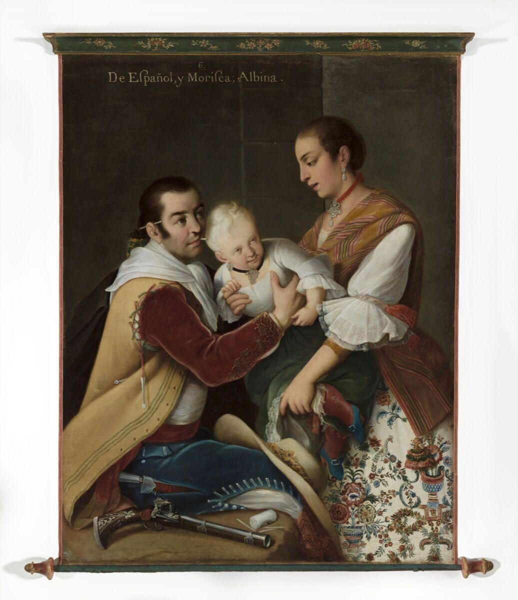 Miguel Cabrera, From Spaniard and Morisca, Albino Girl (De español y morisca, albina), 1763. © Museum Associates/LACMA. Courtesy of the Los Angeles County Museum of Art.