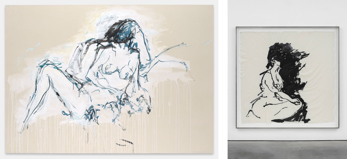Left: Tracey Emin, You were here like the ground underneath my feet, 2016. Photo © Prudence Cumming, 2016; Right: Tracey Emin, Another way to Think of You, 2015. Photo © George Darrell. Works © Tracey Emin. All rights reserved, DACS 2016. Courtesy of Lehmann Maupin.