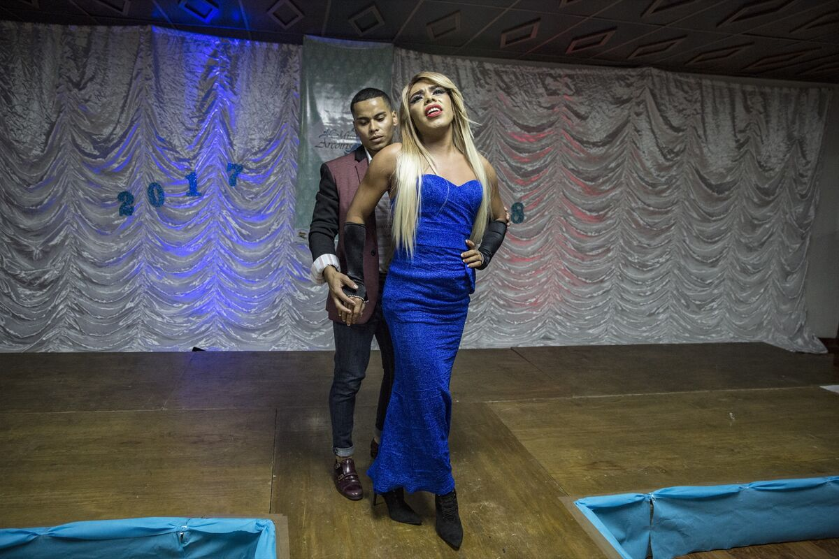 """Briana at the beauty contest """"Miss Arcoiris,"""" an organization that advocates for LGBTQ+ rights in Honduras. Photo by Francesca Volpi. Courtesy of the artist."""