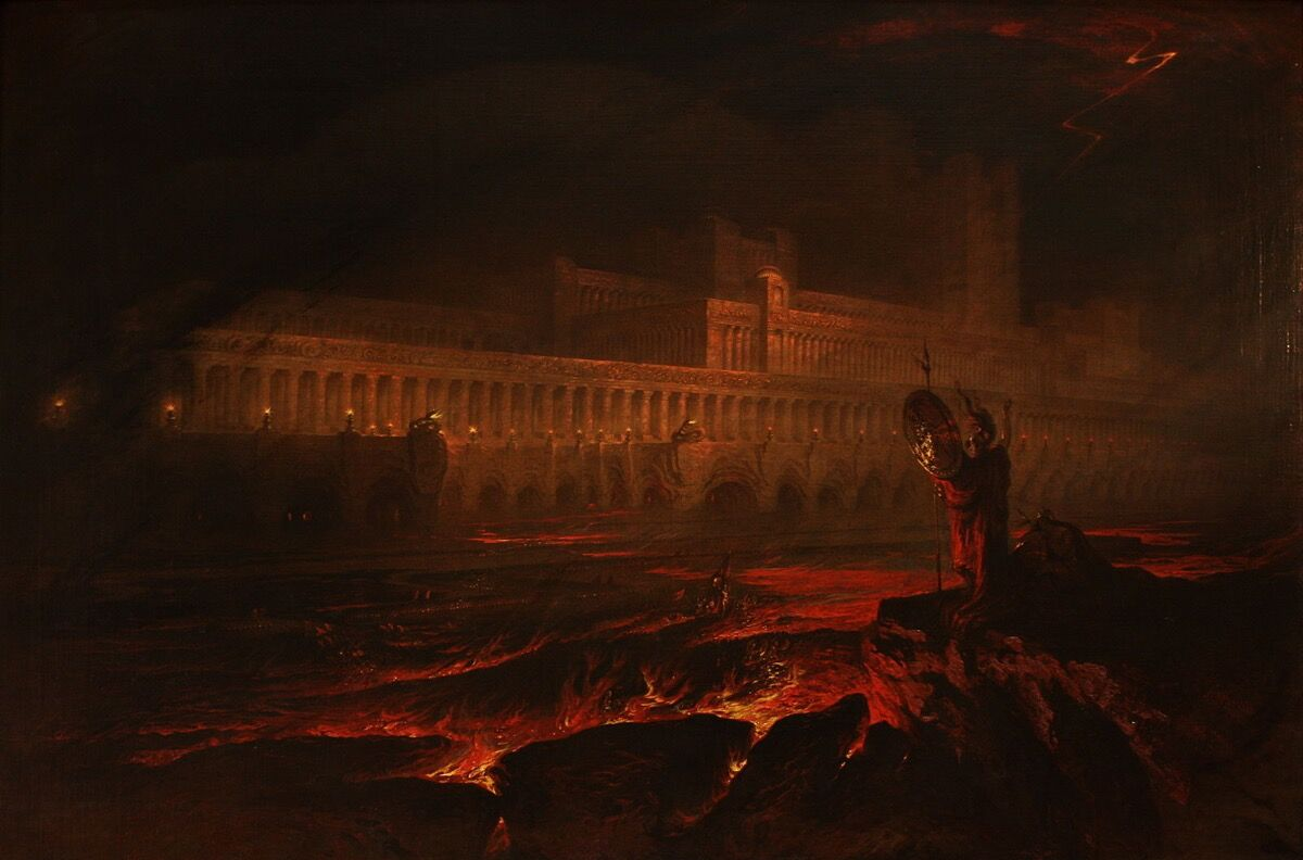 John Martin, Le Pandemonium, 1841. Photo via Wikimedia Commons.